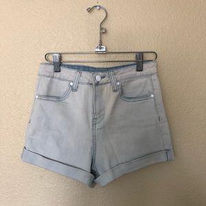 Forever 21 light washed high waisted denim shorts